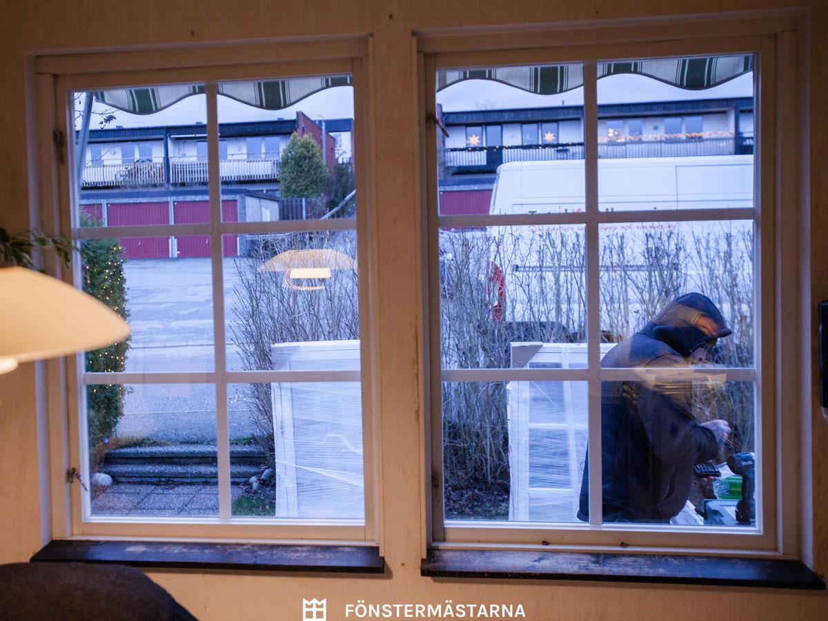 Fönster innan montering
