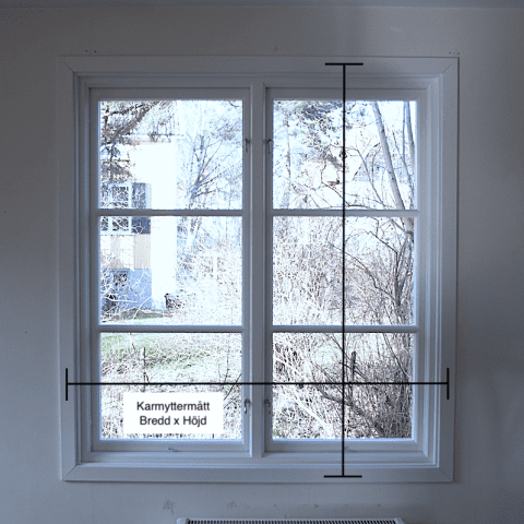 mata fönster inför offert